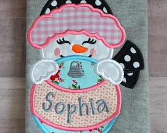 Snow Girl pajamas--Winter Pajamas--Christmas Pajamas-Holiday Pajamas-Personalized Christmas PJs-Christmas Pajamas for Girls-Winter PJs