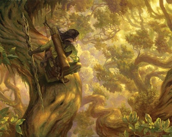 Nissa's Pilgrimage, signed giclee print