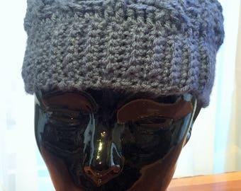 Hand Crochet Cable Beanie