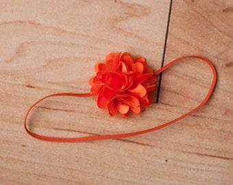 Orange Baby Headband, Halloween Headbands, Orange Headbands, Baby Headband, Newborn Headband, Photography Prop