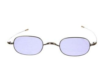Oliver Peoples Y2K Techno Millennium Rave Pastel Purple 90s Minimal Slim Mini Eye Rectangular Vintage Tinted Coloured Lenses Sunglasses