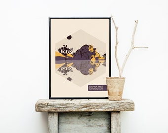 Joshua Tree - California Travel Poster - National Park Travel Poster - Hiking  - Cute Apartment Décor – Dorm Decorations – Poster