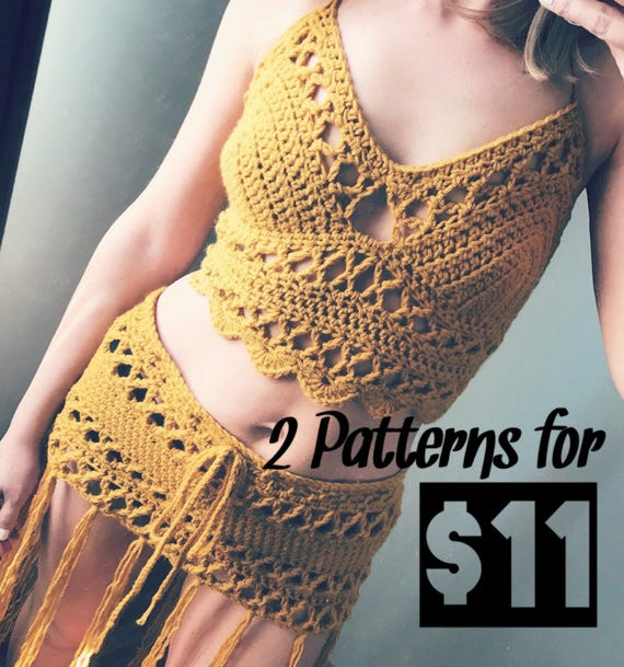 The Lace Bralette And The Lace Skirt Pattern Crochet Bralette