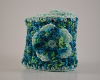 Chelsie Handmade Crocheted Headband Earwarmer with Flower