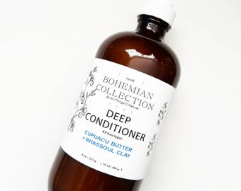 Cupuacu Rhassoul DEEP CONIDITIONER || Moisturizing Conditioner || Clay Conditioner || ORGANIC Ingredients  || Hair Conditioner ||Hair Care