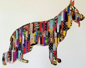 German Shepherd collage wall art
