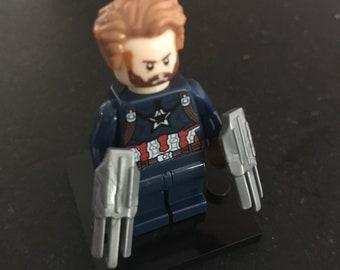 Captain America - Avengers: Infinity War - Marvel Comics - Lego Compatible / Custom Minifigure