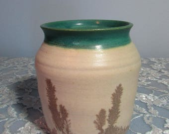 Southwestern Planter, Signed Dated by Artist c1974, Pottery Vase