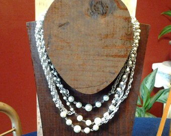 Extra Long Costume Pearl Necklace