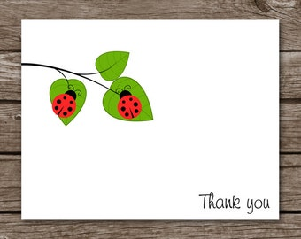 Ladybug Cards, Ladybug Note Cards, Ladybug Notecards, Ladybug Stationery, Ladybug Stationary, Personalized Cards, Set of 8