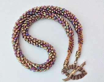 Gorgeous Golden Kumihimo Necklace