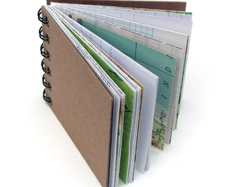 Book Miniature Spiralbound Ephemera papers journal