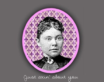 Lizzie Borden note card blank