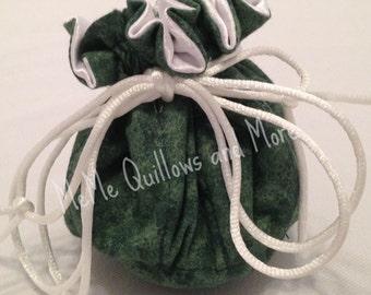 Green Travel Jewelry Bag