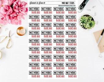 Movie Night Planner Stickers
