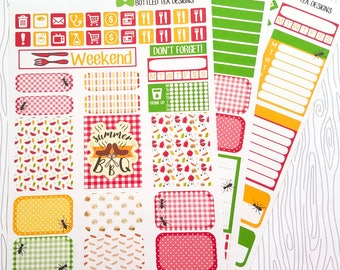 Backyard Barbecue Weekly Kit (Set of 45) Item #545 // Bottom Washi only comes in Erin Condren and Plum Paper Size but can be cut to size.