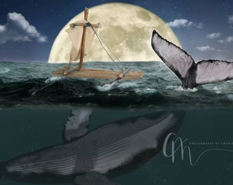 Sea adventure digital background