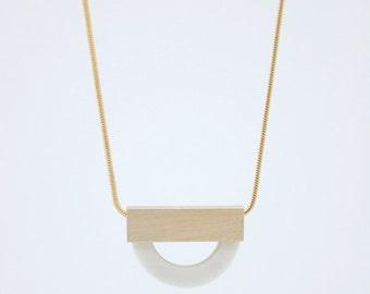 FORMA n.4 // White Porcelain Necklace