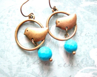 Bird Dangle Earrings, Bird Earring