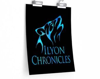 Ilyon Chronicles Blue Wolf Poster - Multiple Sizes