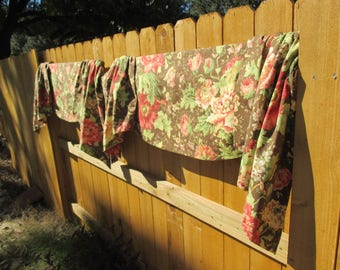 Wonderful,Rich,Colorful French Country, Cottage Chic, Shabby Chic, Set of 3, Window Treatments!!