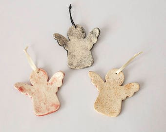 3 Angels ceramic Decorations for your Christmas tree