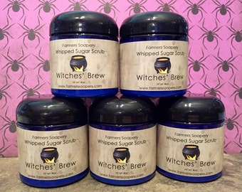 Witches' Brew Whipped Soap Sugar Scrub Clean & Exfoliate Foaming Scrub Hand Scrub Foot Scrub Body Scrub Cream Soap Foaming Soap Skin Care