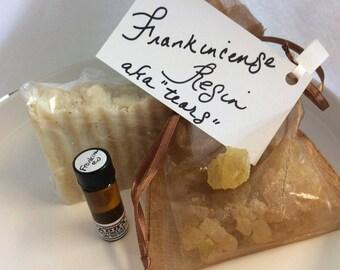Vegan Frankincense Set: Soap, Resin/Tears, Essential Oil - Boswellia Serrata