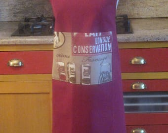 Béarn apron to your liking, customized products and cow milk, very covering, cotton, size fits all, made in France