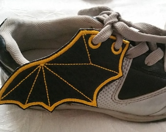 Bat wings - youth and toddler sized - shoe wings in the hoop embroidery design ith, cosplay