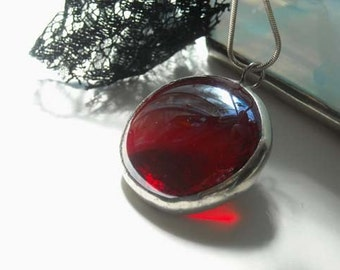 Red Glass Jewel Pendant
