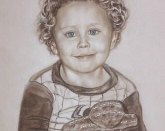 Child Portrait Painting,  Custom Portrait  from Photo,  Baby Portrait, Hand Drawn Portrait, Portrait Artist, Portrait Commission