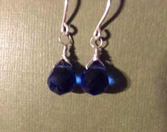 Blue Dangling Quartz