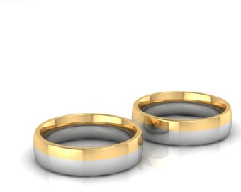 Sezione di anelli di nozze-wedding band dorata Design2100