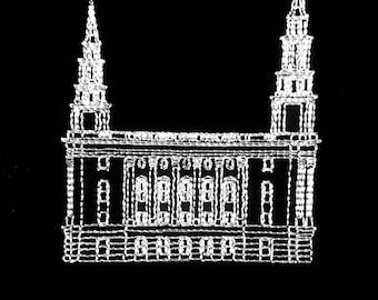 Embroidered Philadelphia Pennsylvania Temple