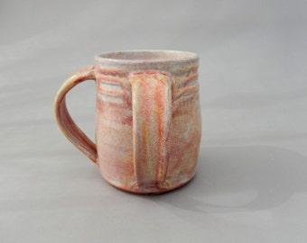 Ceramic Washing Cup - Negel Vasser - Peach Pottery Cup - Judaica - Hanukkah Gift