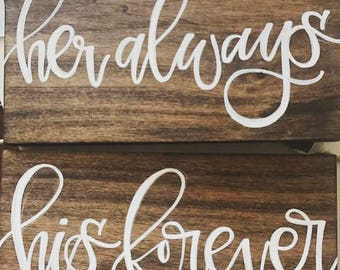 Custom Wood Signs - Hand Lettered Calligraphy