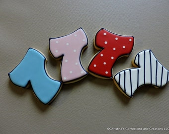 Number 7 Hand decorated sugar cookies for Birthdays (#2620)