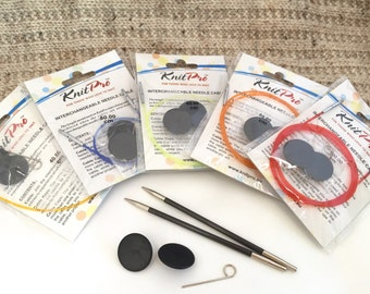 Knitpro Interchangeable Needle Cables Various Lengths
