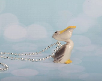 Pelican Necklace -  Pelican Pendant Necklace - Animal Necklace - Pelican- Handmade Jewellery - Necklace -Pelican Jewelry- Frenchtutu Pelican