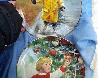 Danbury Mint, Collectors Plates, collectible Plates, Little Splasher, Erik's delight, Christmas Plates, Christmas