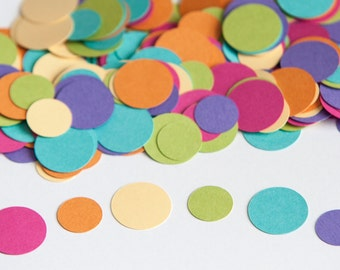 Fiesta Circle Confetti, Birthday Party Decoration, Kids Birthday Party, Pastel Rainbow Confetti