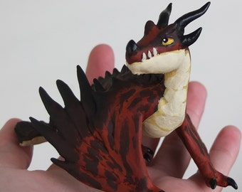 Hookfang etsy little hookfang how to train your dragon monsterous nightmare ooak ccuart Images