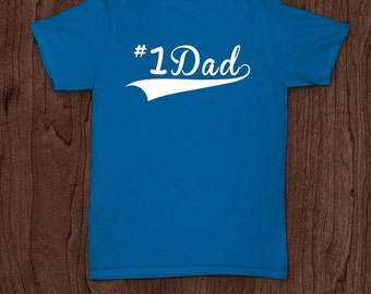 Number one dad t-shirt tee shirt tshirt Christmas dad father daddy family fun father's day grandfather family gift for dad best dad top dad
