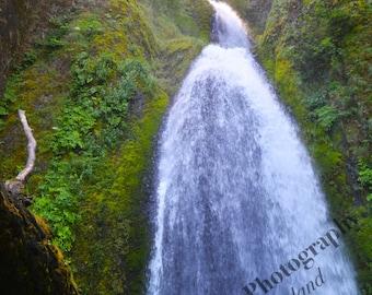 Wahkeena Falls Photograph, Nature Photography, Waterfall Wall Art, 4x6 5x7 8x10 11x14