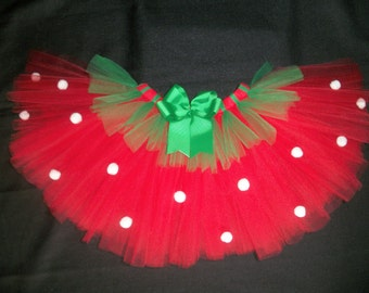 Strawberry tutu, custom made up to a size 4t