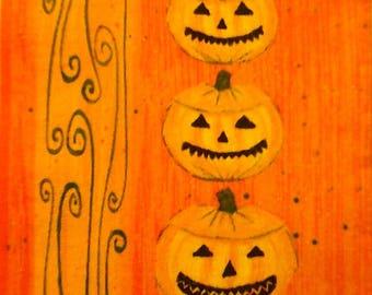 140 1 the Pumpkins of HALLOWEEN paper towel