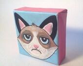SALE 20% off - Grumpy Cat mini original painting