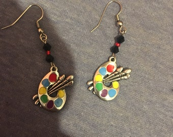 Paint brush earrings