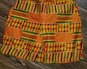 African Kente Print Shorts